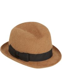Christys' - Light Brown Tyler Trilby Hat - Lyst