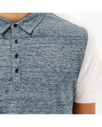 River Island - Blue Colour Block Polo Shirt for Men - Lyst