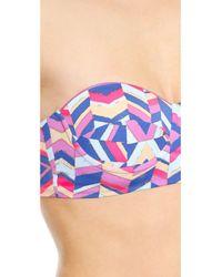 Zinke - Multicolor Katie Bustier Bikini Top - Cobalt Chevron Print - Lyst