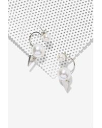 Nasty Gal | White Pearls Gone Wild Jacket Earrings | Lyst