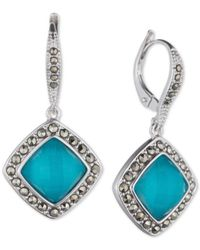 Judith Jack | Blue Sterling Silver Turquoise (2-3/4 Ct. T.w.) Drop Earrings | Lyst