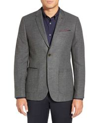 Ted Baker | Gray 'lasveg' Slim Fit Blazer for Men | Lyst