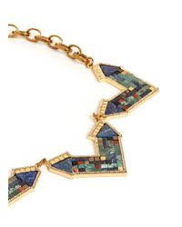 Lulu Frost | Multicolor 'petra' Mosaic Arrow Statement Necklace | Lyst