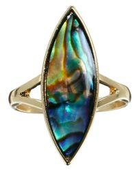 ASOS - Metallic Oval Shell Ring - Lyst