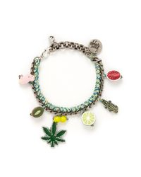 Venessa Arizaga Multicolor 'ride Or Die' Bracelet