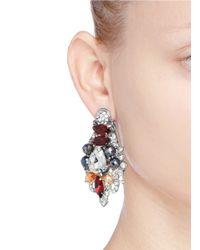 Assad Mounser - Multicolor Crystal Bead Pavé Stud Earrings - Lyst
