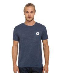 Converse - Blue Core Left Chest Core Patch Short Sleeve Crew for Men - Lyst