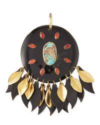 Ashley Pittman - Metallic Ndoto Dark Horn Medallion Pendant - Lyst