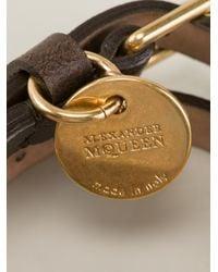 Alexander McQueen - Brown Double Wrap Bracelet for Men - Lyst