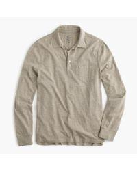 J.Crew - Natural Broken-in Long-sleeve Pocket Polo Shirt for Men - Lyst