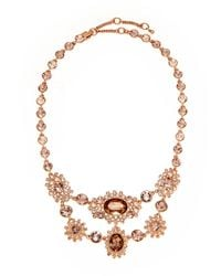 Givenchy | Metallic Rose Gold-Tone Multiple Embellishment Link Necklace | Lyst