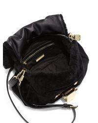 Tory Burch - Black Fun Fur Hobo Bag - Lyst