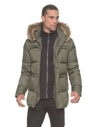 Marc New York | Green Water-Resistant Quilted Parka Jacket  for Men | Lyst