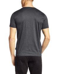 BOSS Gray Slim Fit T-shirt In Mercerised Cotton: 'canistro 30' for men