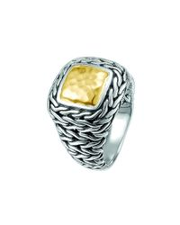 John Hardy | Metallic Sterling Silver & 22K Yellow Gold Braided Palu Ring | Lyst
