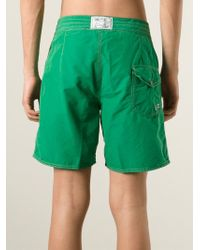 Polo Ralph Lauren - Green Logo Embroidered Swim Shorts for Men - Lyst