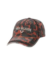 True Religion | Brown Camo Baseball Cap for Men | Lyst