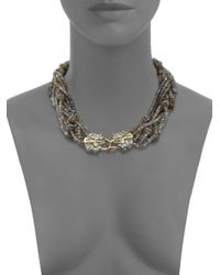 Alexis Bittar | Metallic Elements Labradorite, French Blue, Crystal & Pyrite Mult-strand Bib Necklace | Lyst