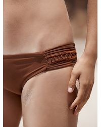 Free People | Brown Pikake Bikini Bottoms | Lyst