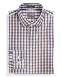 Calibrate - Blue Trim Fit Non-iron Check Dress Shirt for Men - Lyst