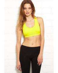 Forever 21 - Yellow High Impact - Mesh Back Sports Bra - Lyst