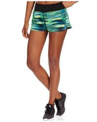 Adidas | Green Mia Climalite® Workout Shorts | Lyst