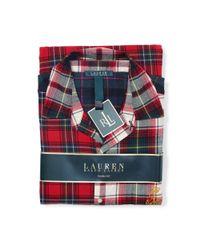 Ralph Lauren - Multicolor Color-blocked Plaid Pajama Set - Lyst