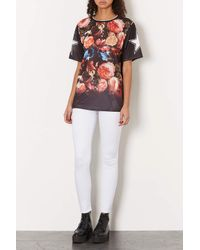 TOPSHOP - Moto White Leigh Jeans - Lyst
