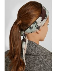 Live The Process   Black Floral-Print Stretch-Jersey Headband   Lyst