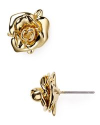 Marc By Marc Jacobs | Metallic Jerrie Rose Stud Earrings | Lyst