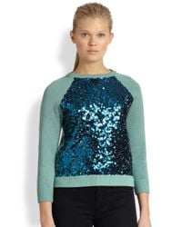 Marc By Marc Jacobs - Green Gretta Sequin Sweater - Lyst