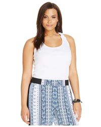 INC International Concepts | White Plus Size Crochet-back Tank Top | Lyst