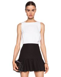 RED Valentino - White Bow Cotton-Blend Top - Lyst