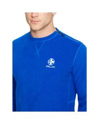 Ralph Lauren | Blue Fleece Shoulder-zip Pullover for Men | Lyst