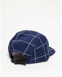 Norse Projects - Blue Grid Linen 5 Panel for Men - Lyst