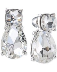Carolee | Metallic Silver-tone Front To Back Stud Earrings | Lyst