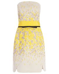 Giambattista Valli - Yellow Floral Embroidered Dress - Lyst