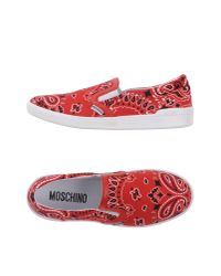 Moschino | Red Low-tops & Sneakers for Men | Lyst
