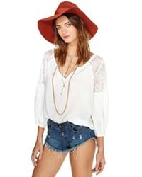 Nasty Gal | White Jardin Lace Blouse - Ivory | Lyst