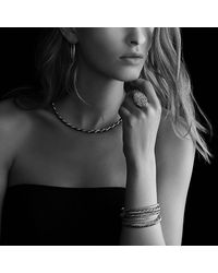 David Yurman | Black & Gold Cable Bangle | Lyst