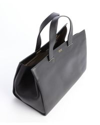 Armani - Black Leather Shopping Tote - Lyst