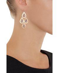 Irene Neuwirth - Metallic Tanzanite  Rose Gold Four-drop Earrings - Lyst