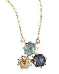 KALAN by Suzanne Kalan | Multi-stone Blue Cluster Pendant Necklace | Lyst
