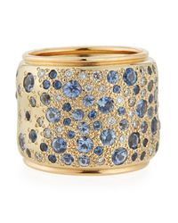 Pomellato - Natural Sabbia Blue Sapphire & Diamond Ring - Lyst