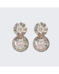 Spectrum | Metallic Art Deco Diamond Earrings | Lyst