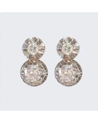 Spectrum | Metallic Art Deco Diamond Earrings | Lyst