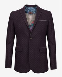 Ted Baker | Purple Spot Print Blazer for Men | Lyst