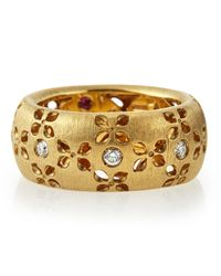 Roberto Coin - Metallic 18k Diamond Granada Ring - Lyst