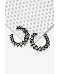 Nasty Gal | Black Melody Ehsani Axoim Hoop Earrings | Lyst