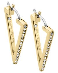 Michael Kors | Metallic Gold-Tone Triangle Earrings | Lyst
